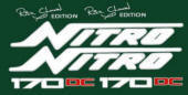 Nitro 170 TF and 170 DC Rick Clunn Edition Boat Decal Set