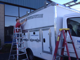 Vinyl Approach Commercial Vehicle Lettering