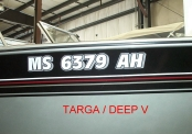Targa/Deep V Tracker Matching Registration Numbers